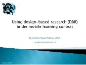 DBR in the m-learning context (A. P...