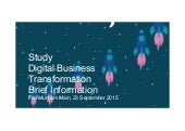 "Study ""Digital Business Transformation"" shows varying perspectives among German companies"