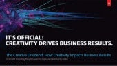 It's Official: Creativity Drives Business Results