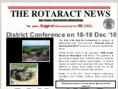 District Conference 2010 Rotaract D...