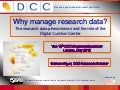Why manage research data?