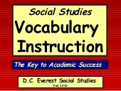 Dce Social Studies Vocabulary