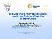Big Data Platform Processes Daily Healthcare Data for Clinic Use at Mayo Clinic