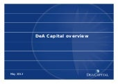 DeA Capital may 12 institutional pr...