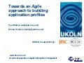 Towards an Agile approach to building application profiles