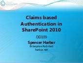 DD109 Claims Based AuthN in SharePo...