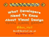 What Developers Need To Know About Visual Design