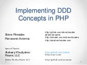 Implementing DDD Concepts in PHP