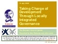 Taking charge of Development through locally integrated governance