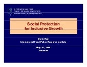 Social Protection for Inclusive Gro...