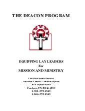 Deacon program lutheran