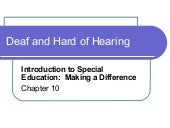 Deaf And Hard Of Hearing Presentation