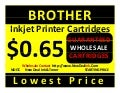 WHOLESALE FACTORY DIRECT PRINTER CARTRIDGES BROTHER INKJET PRINTER CARTRIDGES $0.65 CENTS NDITC WHOLESALE ONLY You can start your own inkjet laser toner printer cartridge business without the refilling machine.  Dealers wanted brother inkjet printer cartr