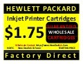 NDITC WHOLESALE ONLY HP CARTRIDGES $1.75 WHOLESALE NDITC DEALERS WANTED We are the company that can help you start and profit within your own inkjet and laser toner printer cartridge home or commercial business. Dealers wanted hewlett packard inkjet print