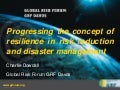Progressing the Concept of Resilience in Risk Reduction and Disaster Management