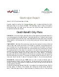 AALU Washington Report: Death Benefit Only Plans - Fulcrum Partners LLC
