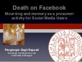 Death on Facebook. Mourning and mem...