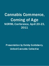 Cannabis Commerce Coming of Age NOR...