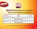 MADE EASY Admissions are opened for  Electronics & Mechanical Branche