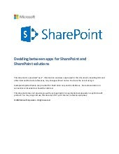 Deciding Between apps for SharePoint and SharePoint Solutions