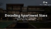 Everything You Need To Know About How To Choose THe Right Apartment For You - Decoding apartment sizes