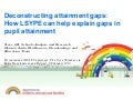 Deconstructing attainment gaps: How LSYPE can help explain gaps in pupil attainment