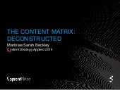 Deconstructing the Content Matrix for Content Strategy Applied 2014