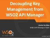 Decoupling Key Management from WSO2 API Manager