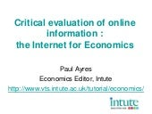 Critical evaluation of online infor...