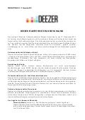 Deezer launch germany