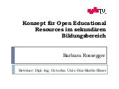 Konzept für Open Educational Resour...