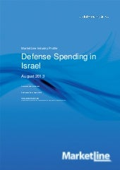 Defense spending in israel august 2013