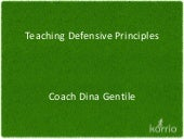 Teaching Defensive Principles by Dr. Dina Gentile
