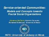 Service-oriented Communities: Model...