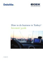 How to do business in turkey 2011