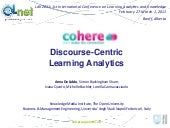 Discourse-Centric Learning Analytics
