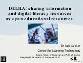 DELILA: information literacy and open educational resources (OERs)