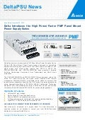 Delta Introduces the High Power Factor PMF Panel Mount Power Supply Series