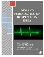 Demand forecast of hospitals in india