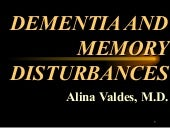 Dementia And Memory Disturbances