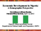 Demography and Economic Growth in N...