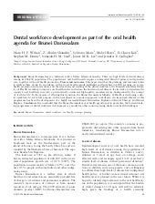 Dental workforce development as par...