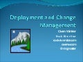 Deployment And Change Management