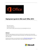 Deployment guide-for-office-2013