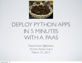 PyCon talk: Deploy Python apps in 5 min with a PaaS