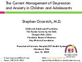Current Management of Depression an...