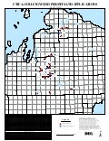 Michigan Map for Permits/Applications in the Utica-Collingwood Shale