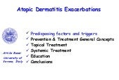 Atopic dermatitis exacerbations