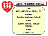 Desastres naturales   ronald