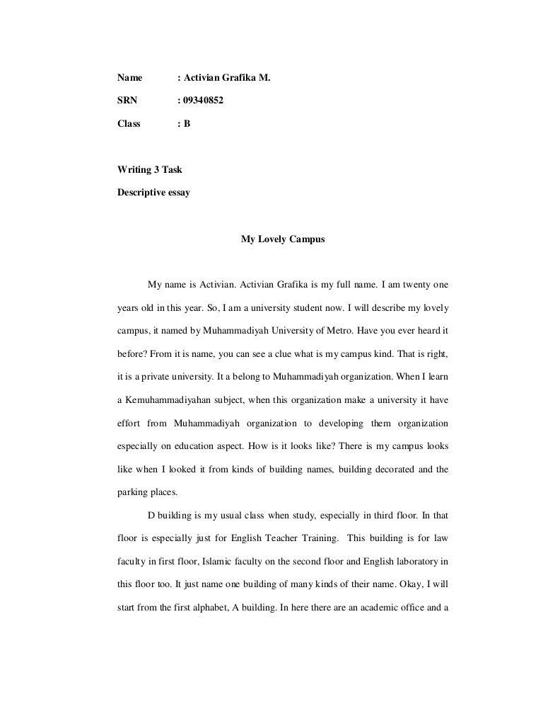 I need help starting my descriptive essay...?
